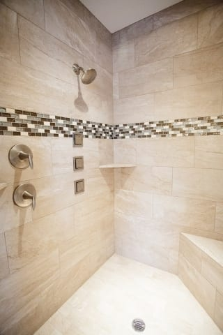 Sunburst Master Bathroom Shower