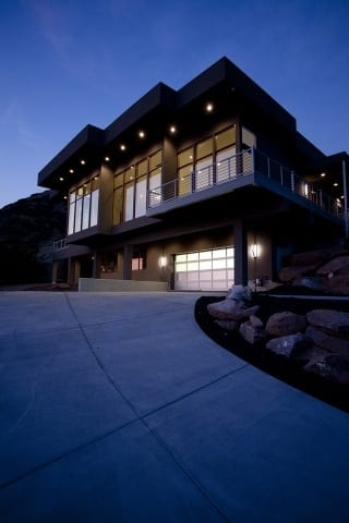 Valley View Night Exterior