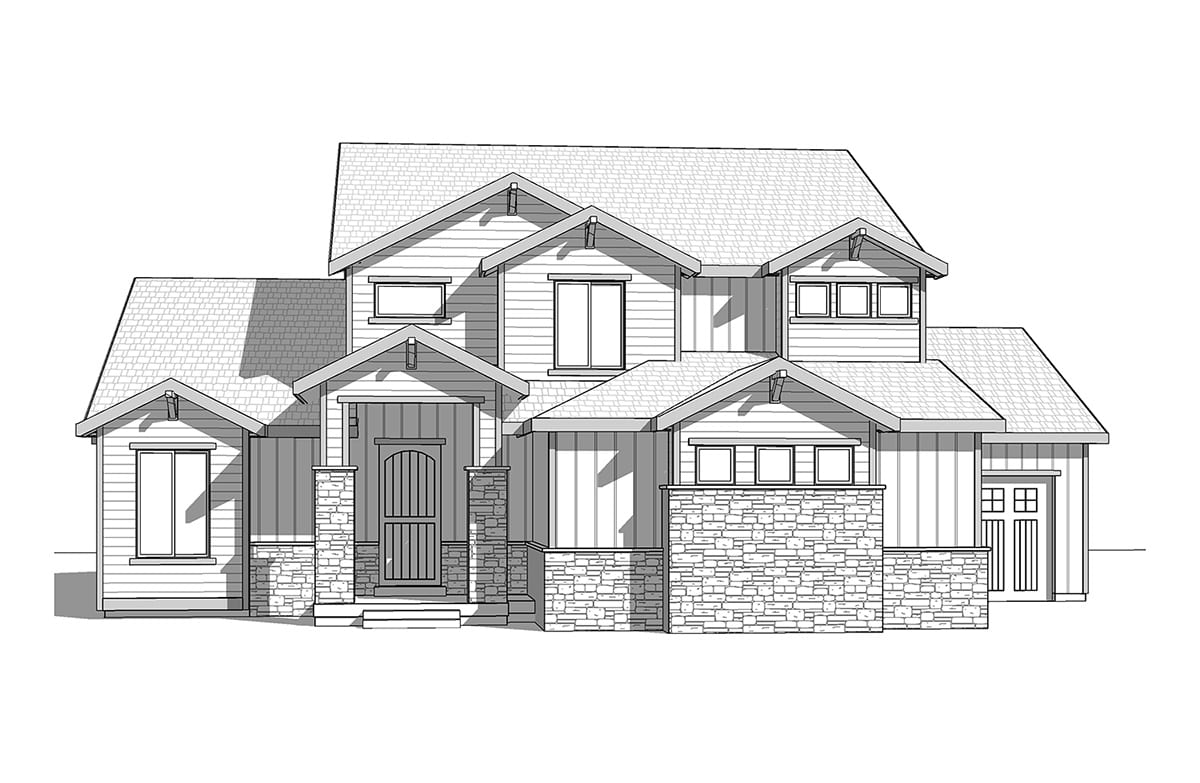 Craftsman two story with master on the main for Walker home design