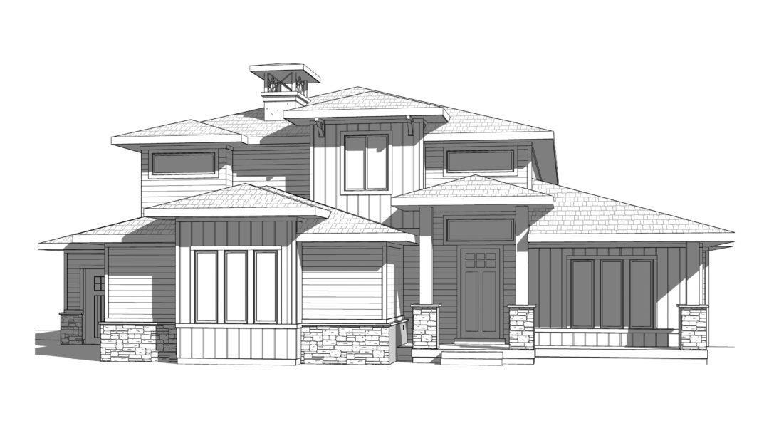 cyprus house plan 3d rendering