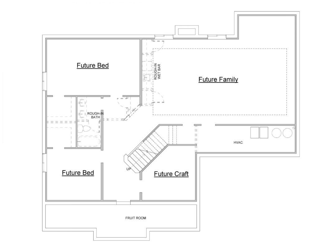 Eagle Island Lower Level House Plan