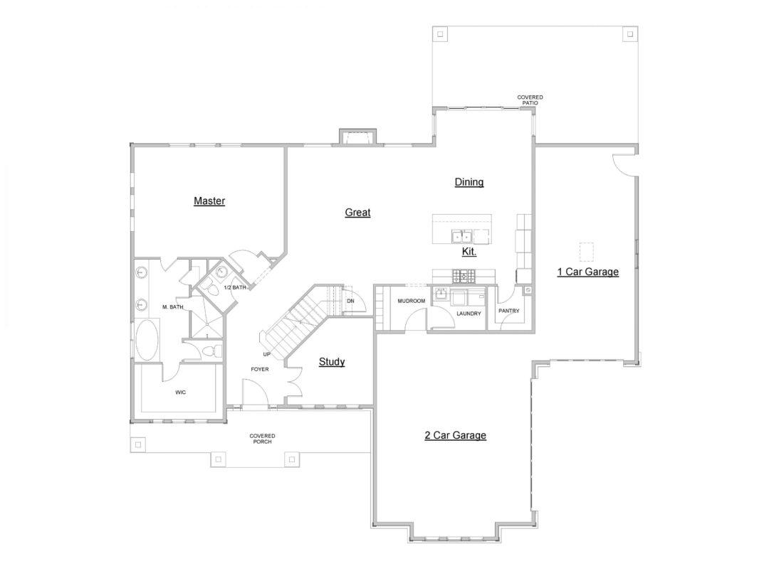 Eagle Island Main Level House Plan