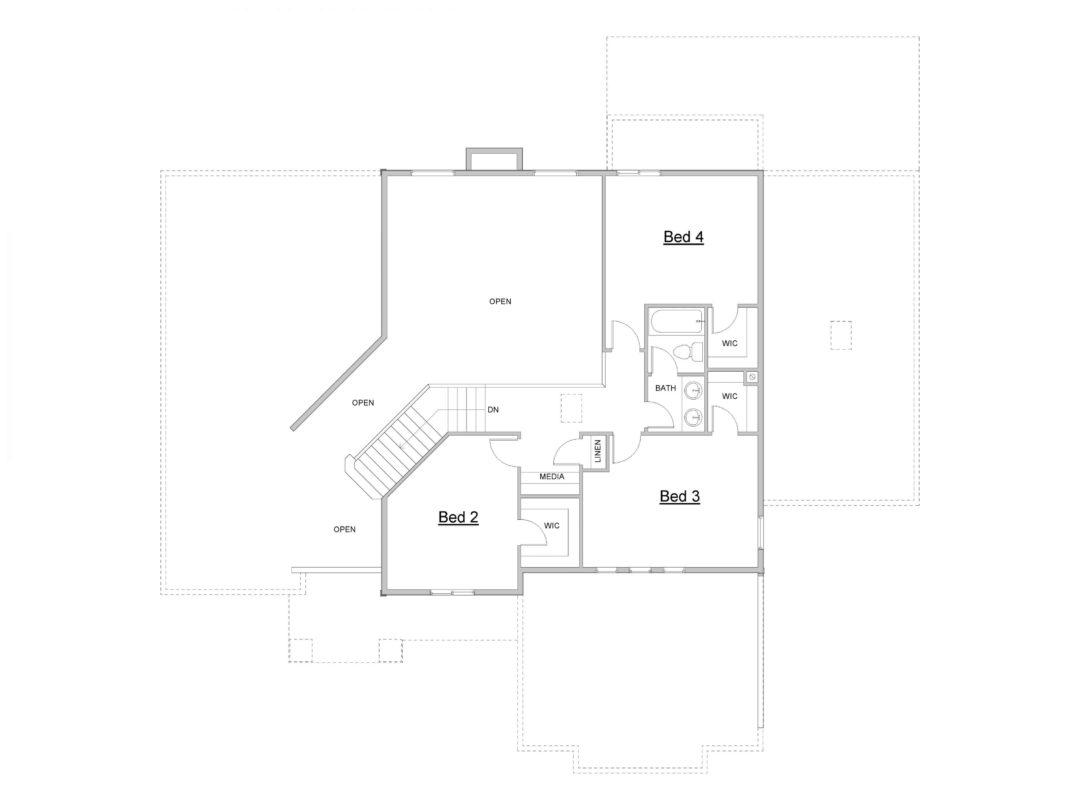 Eagle Island Upper Level House Plan