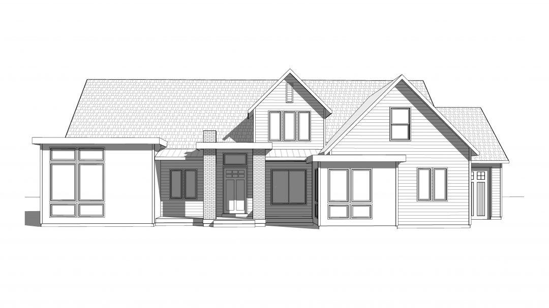 northridge house plan 3d rendering