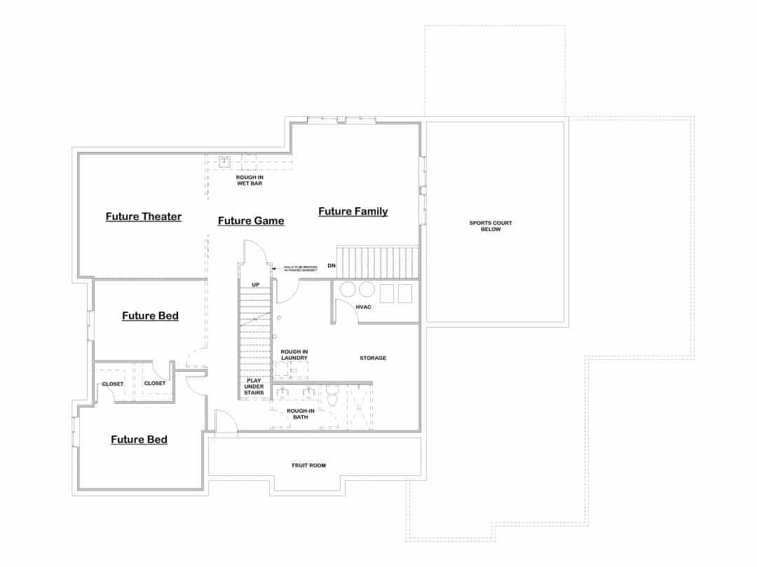 Northridge Basement House Plan