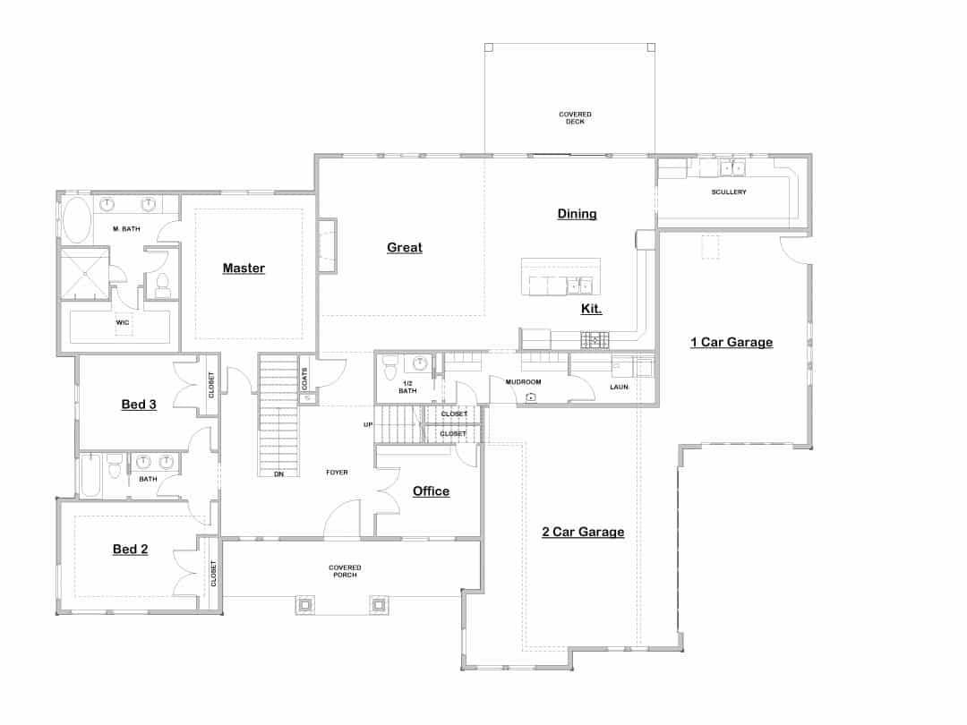 Northridge Main Level House Plan