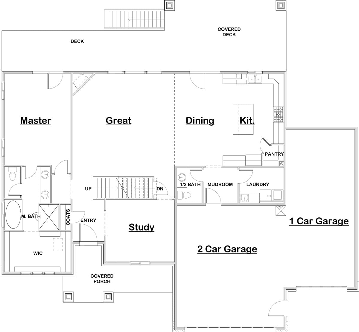Master On Main House Plans Numberedtype