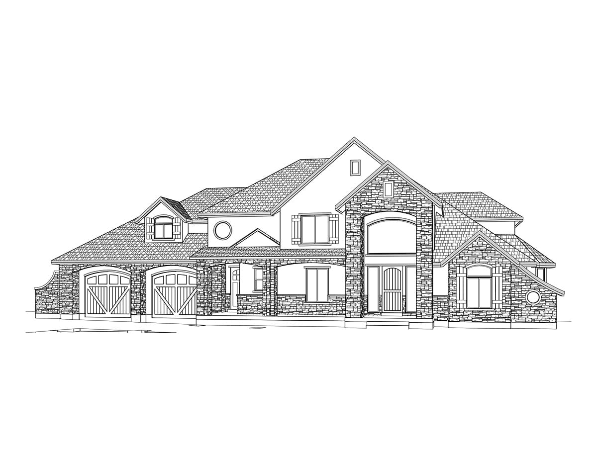 Two story french country house plan for Two story country house plans