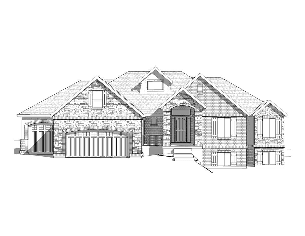 Rambler craftsman lexington for Craftsman rambler house plans