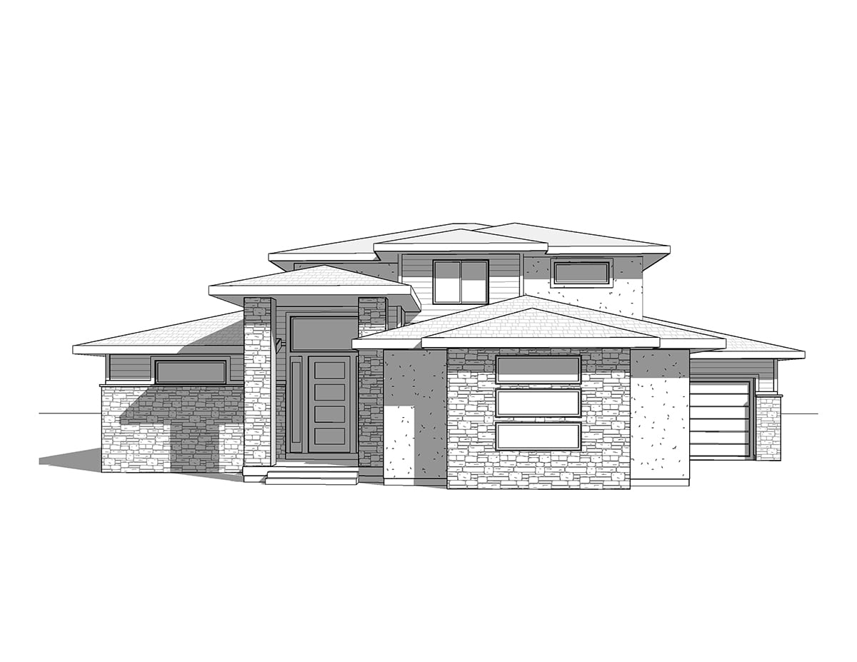 Hillside on French Country Style House Plans