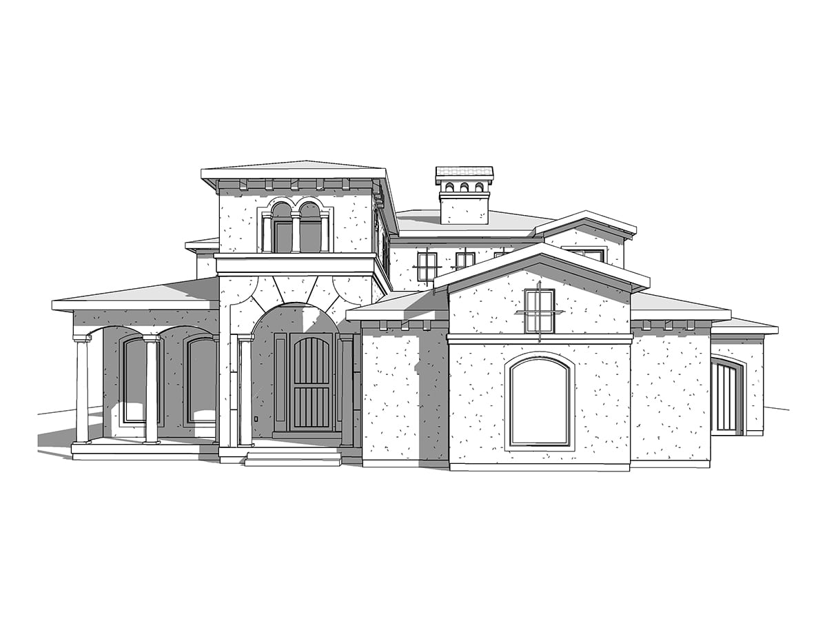 Two story mediterranean house plan for Two story mediterranean house plans