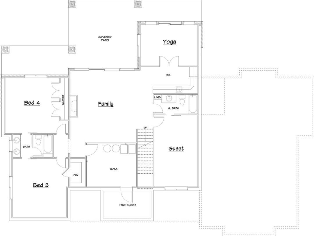 Rambler-Finsmara Lower Level Floor Plan