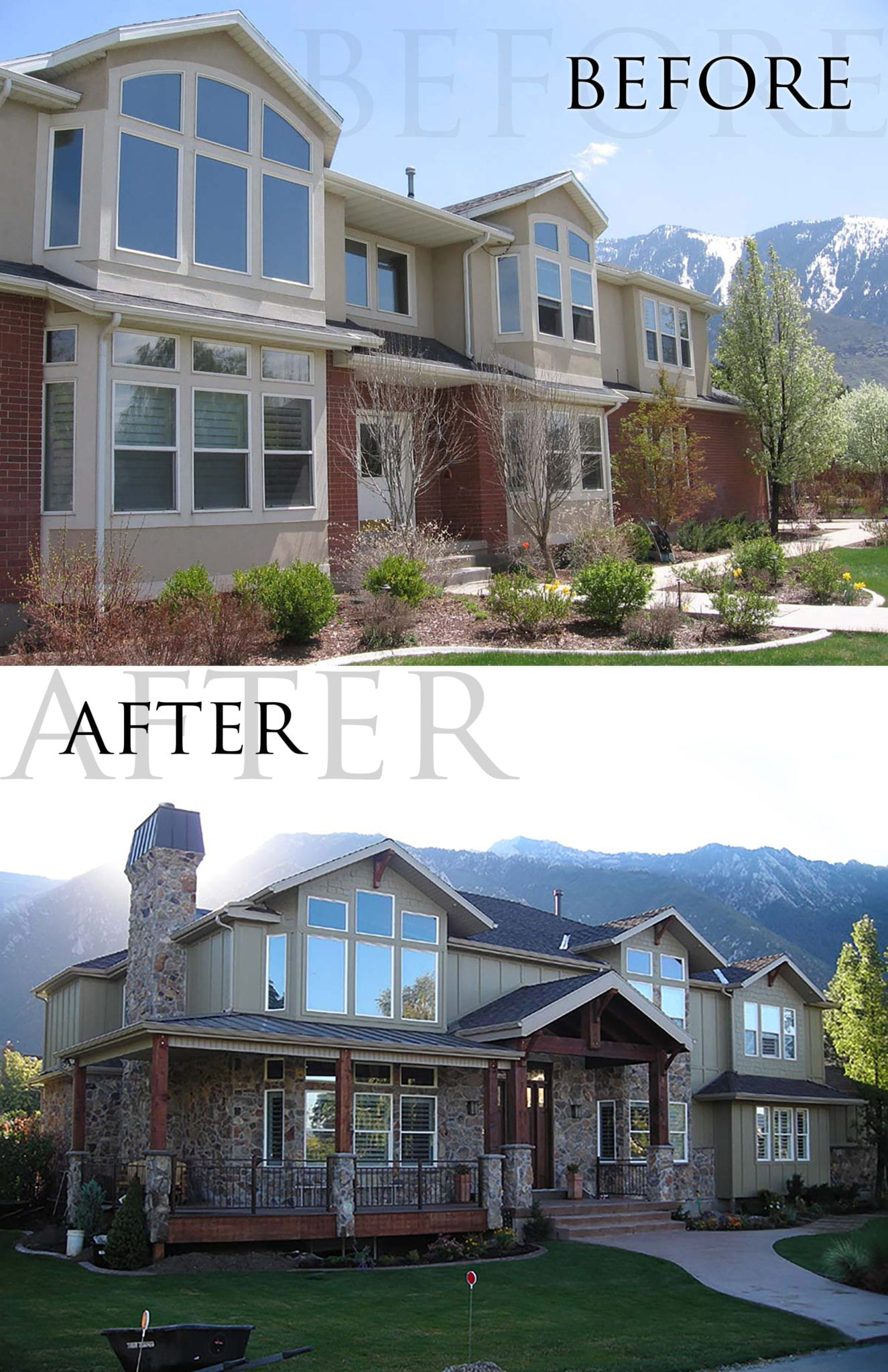 Before after walker home design for Walker home design