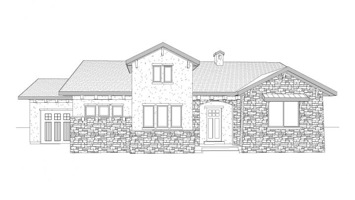 Ceccano House Plan Rendering