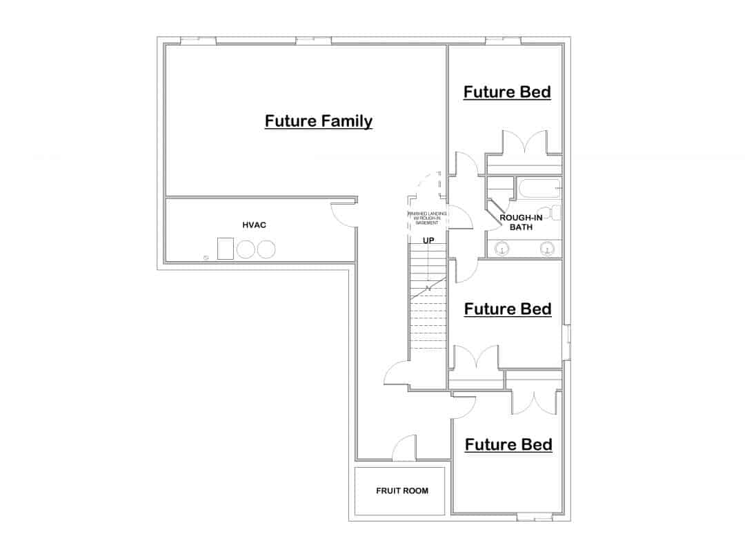 Ceccano Basement Floor House Plan