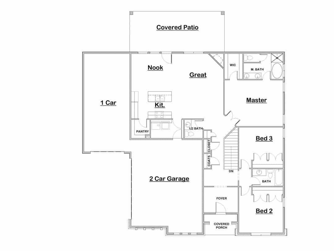 Ceccano Main Floor House Plan