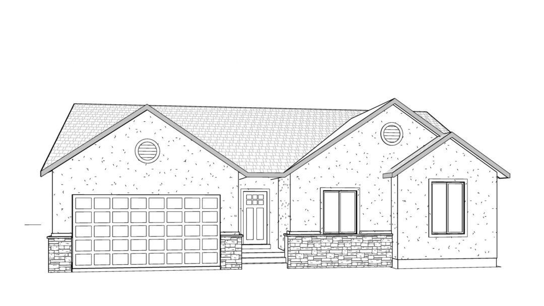 kristina house plan 3d rendering