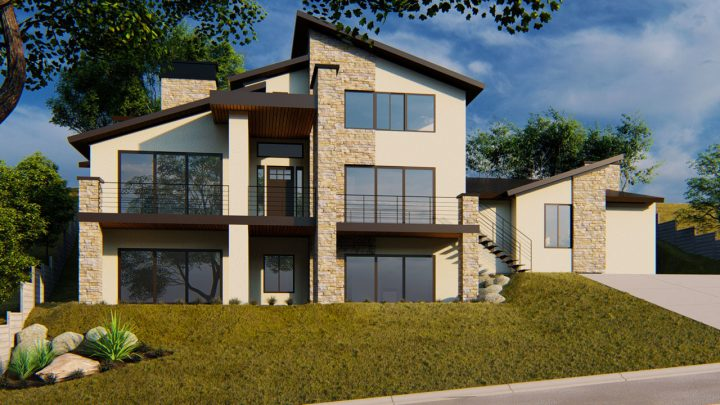 Grand Ledge House Plan Rendering