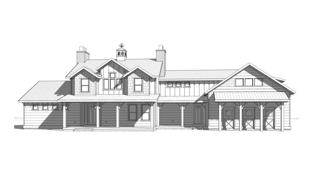 pioneer ridge house plan 3d rendering