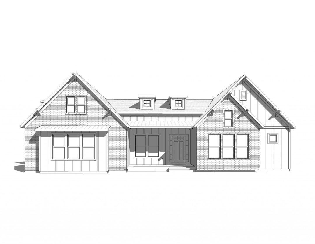 twin creek house plan 3d rendering