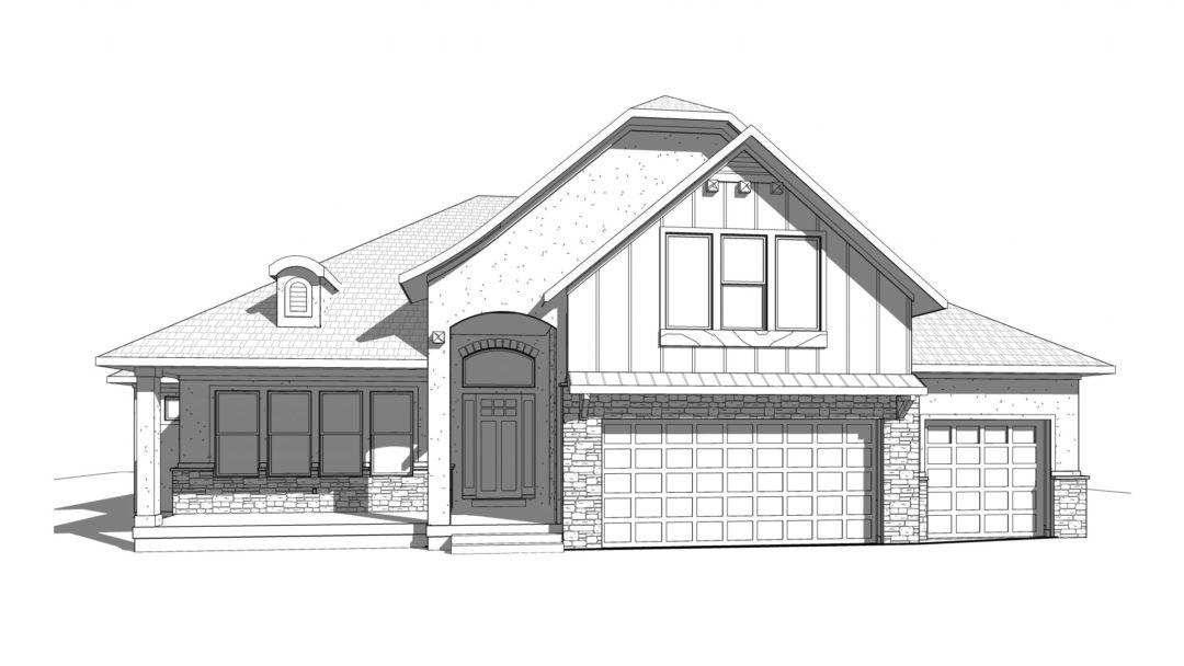 carmen house plan 3d rendering