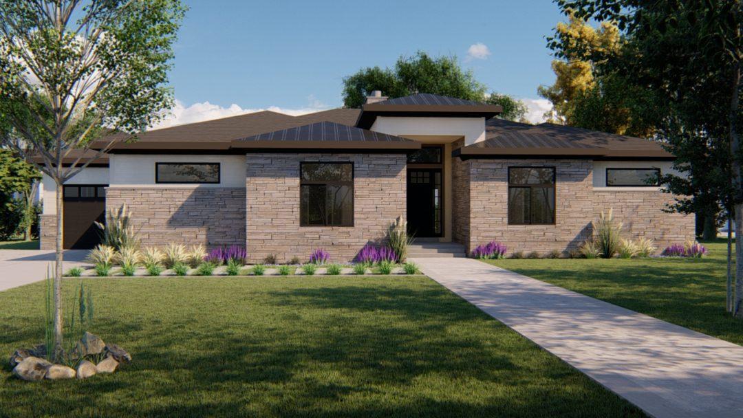 auburn prairie house plan 3d rendering