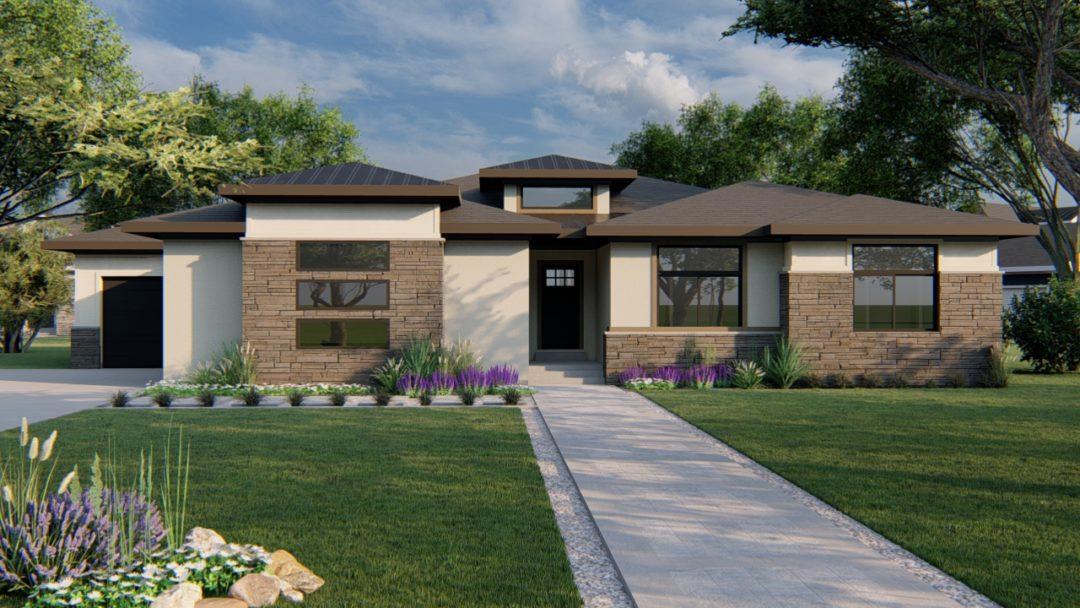highline prairie house plan 3d rendering