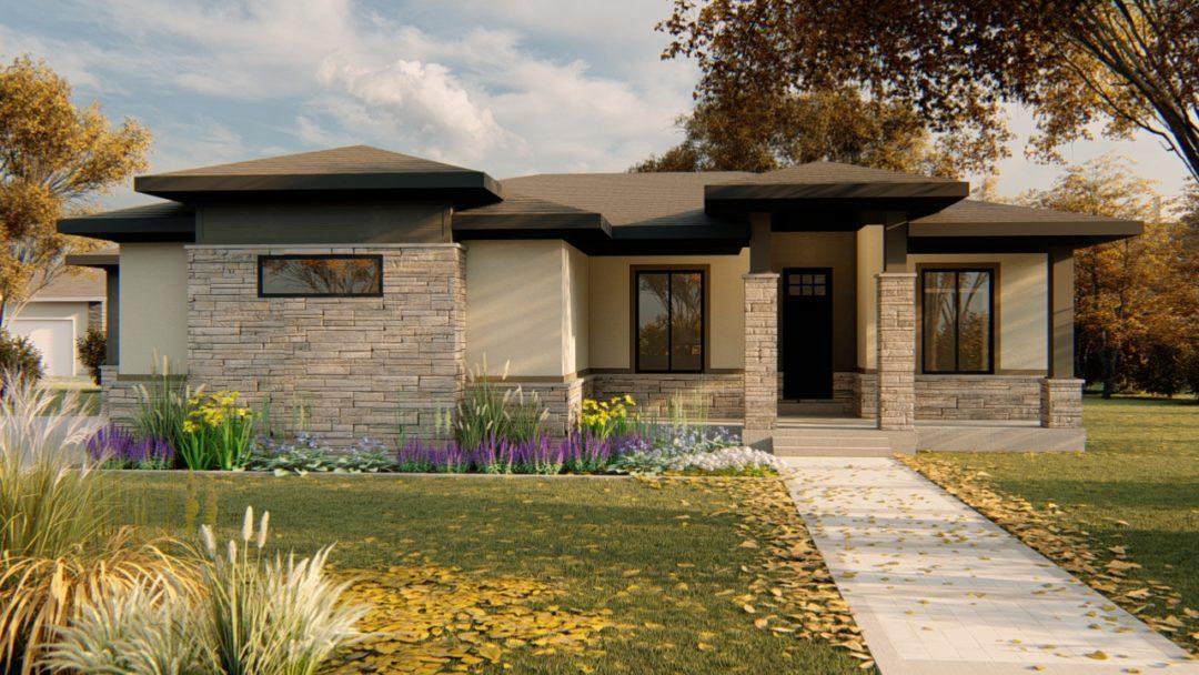 kirkland prairie house plan 3d rendering