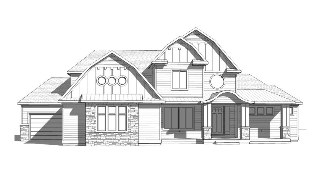 astoria house plan 3d rendering