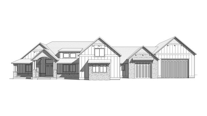 sand hollow house plan 3d rendering