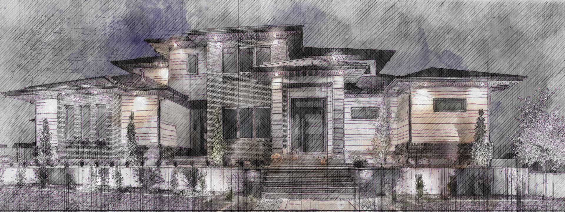 grand island house plan exterior finished picture
