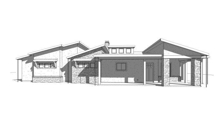 south fork house plan 3d rendering