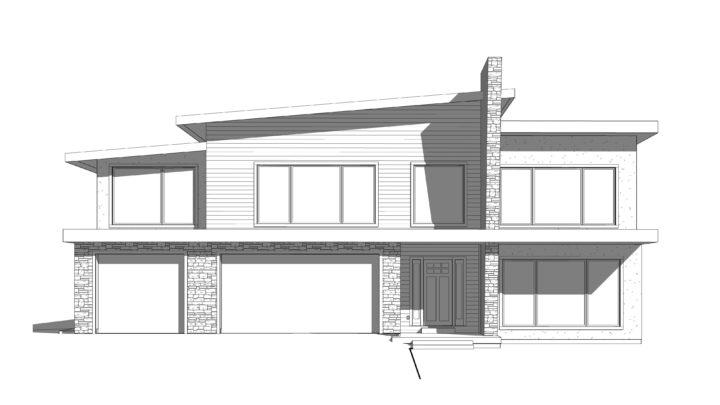 arlington hills house plan 3d rendering