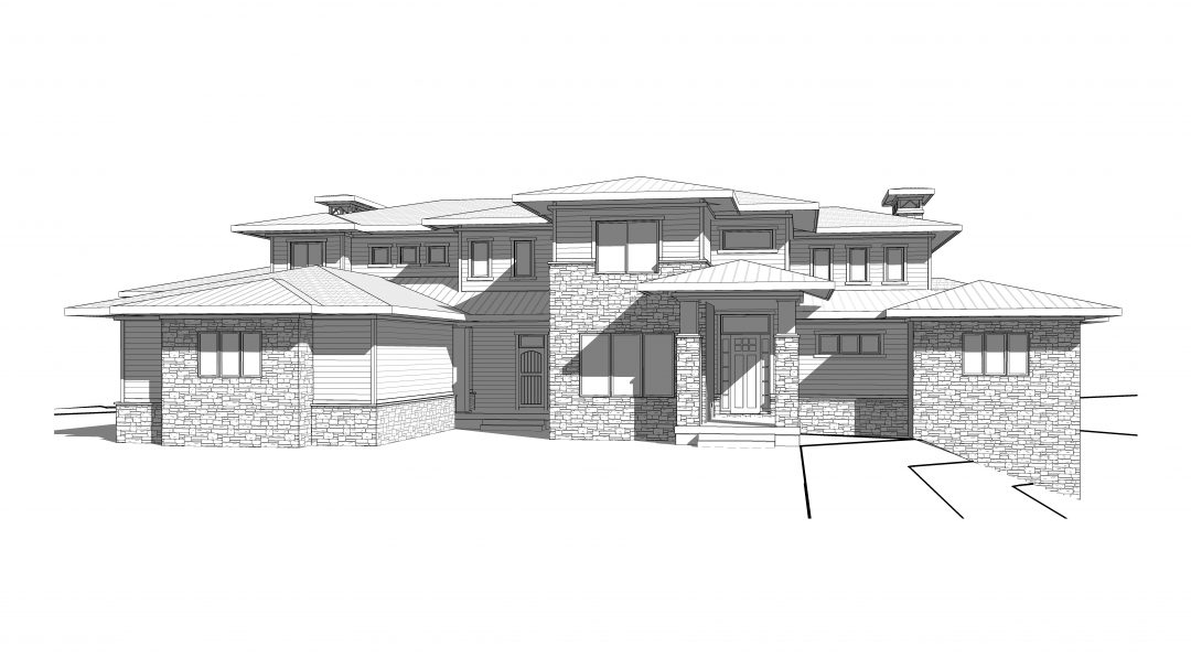 atlas hills house plan 3d rendering
