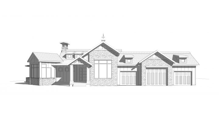 heritage house plan 3d rendering