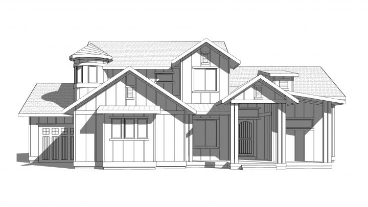 maple grove house plan 3d rendering