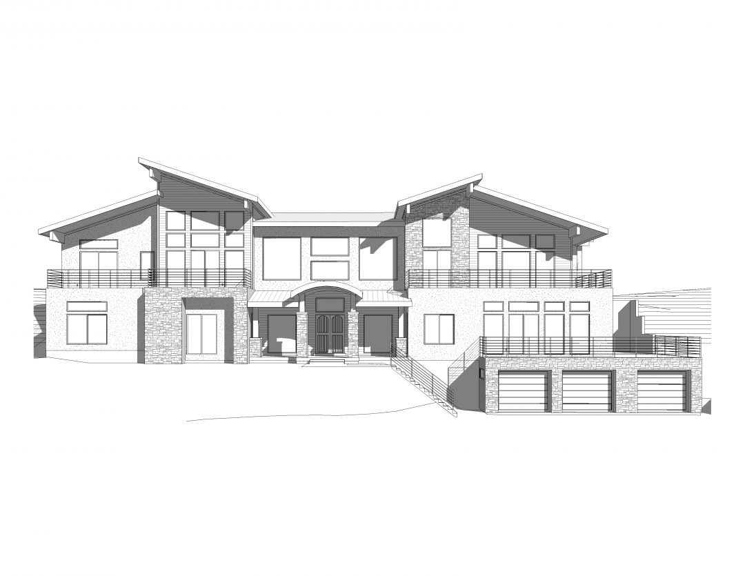 oak pointe house plan 3d rendering