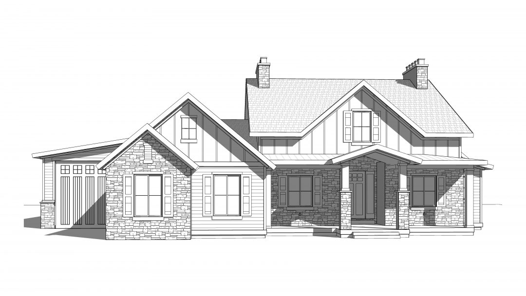 omaha house plan 3d rendering