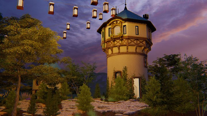 Rapunzel Tower Playhouse Concept