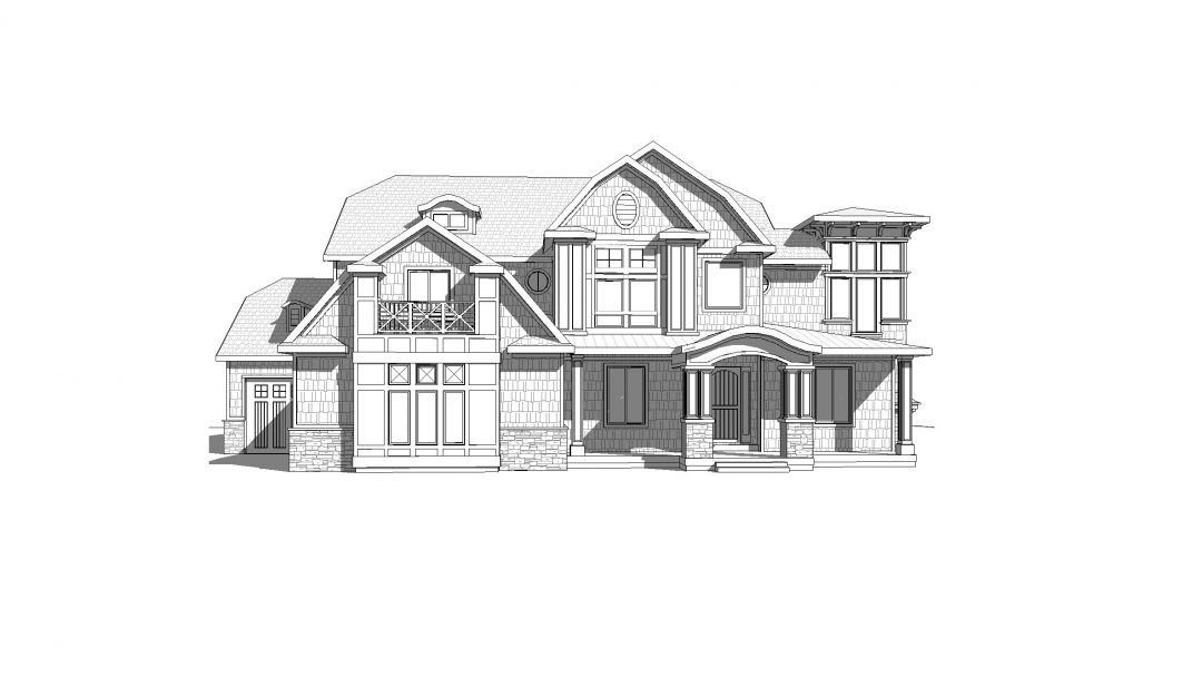 stonegate house plan 3d rendering