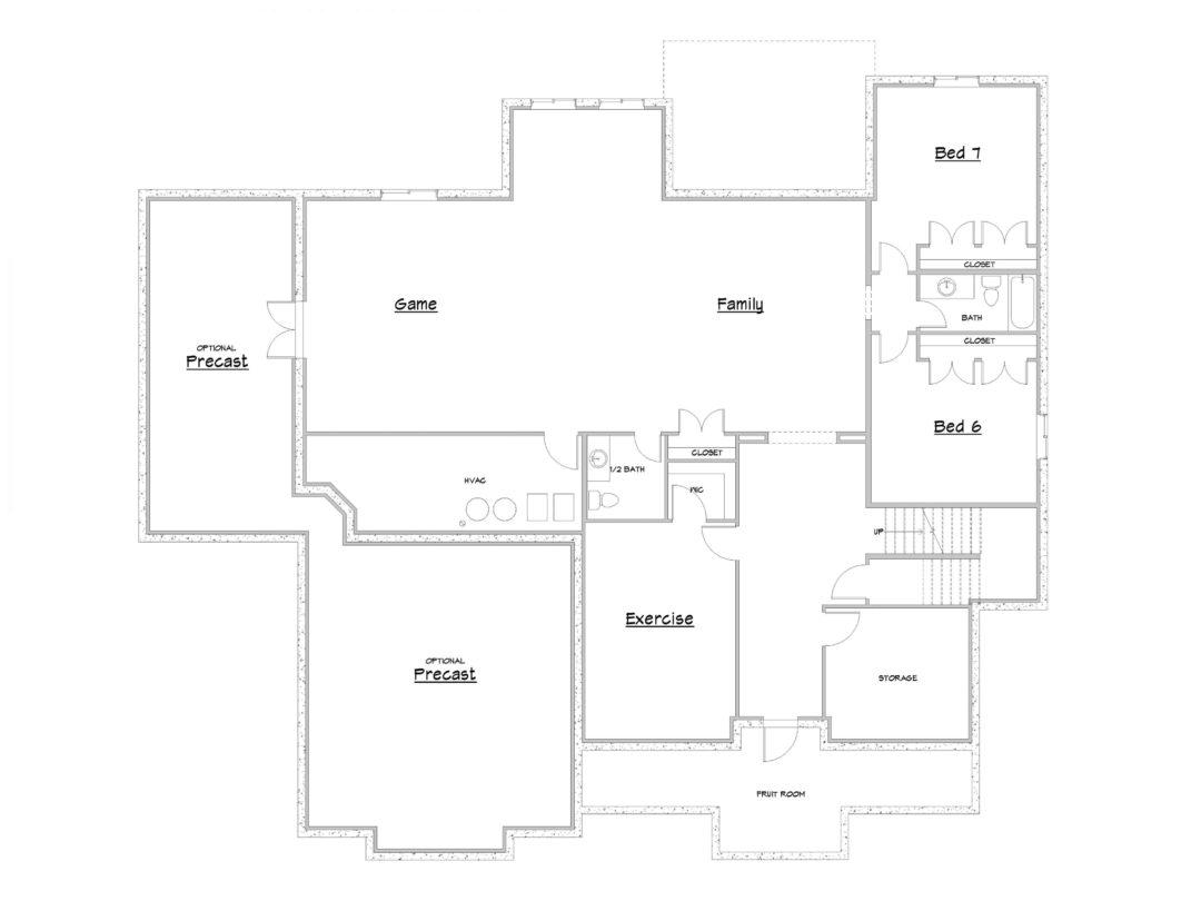 Stone Gate Main Level House Plan