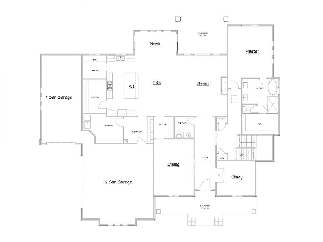 Stone Gate Lower Level House Plan