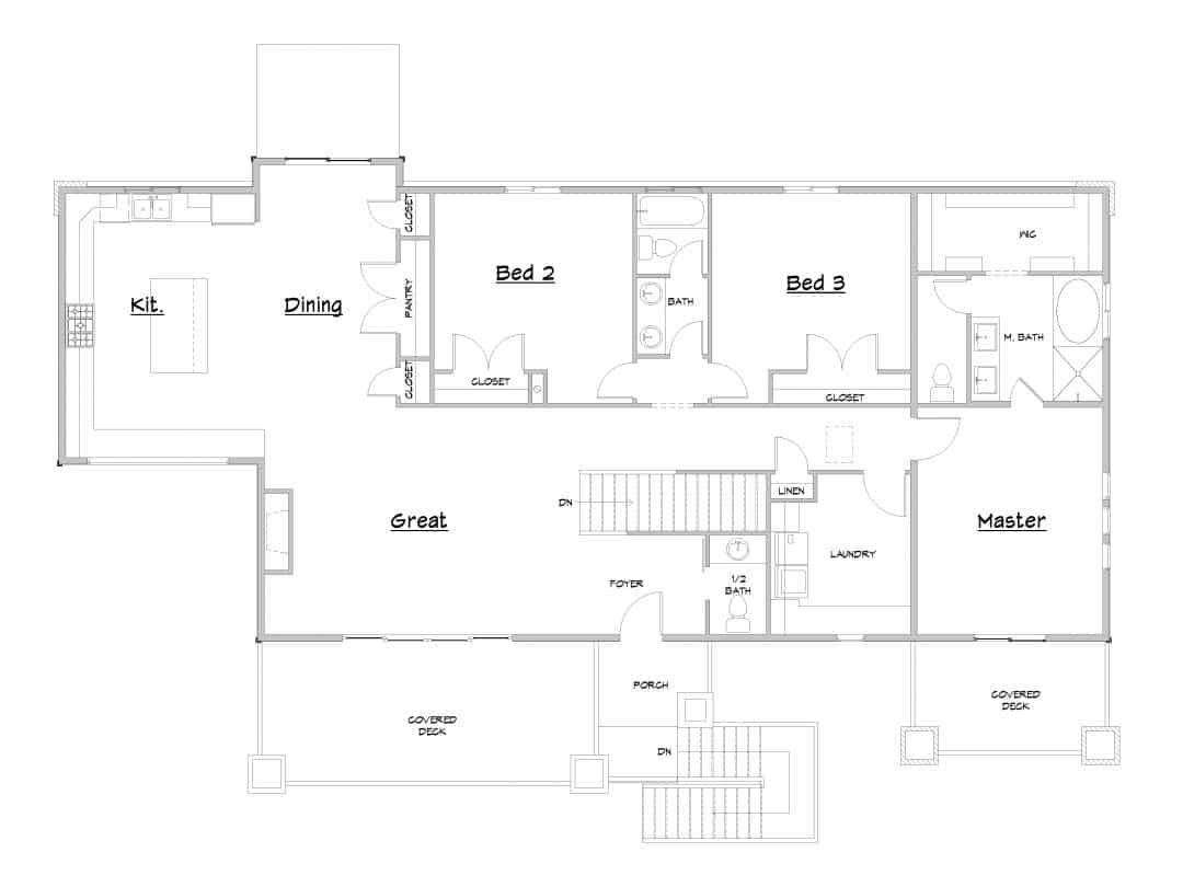 Sand Creek Lower Level House Plan