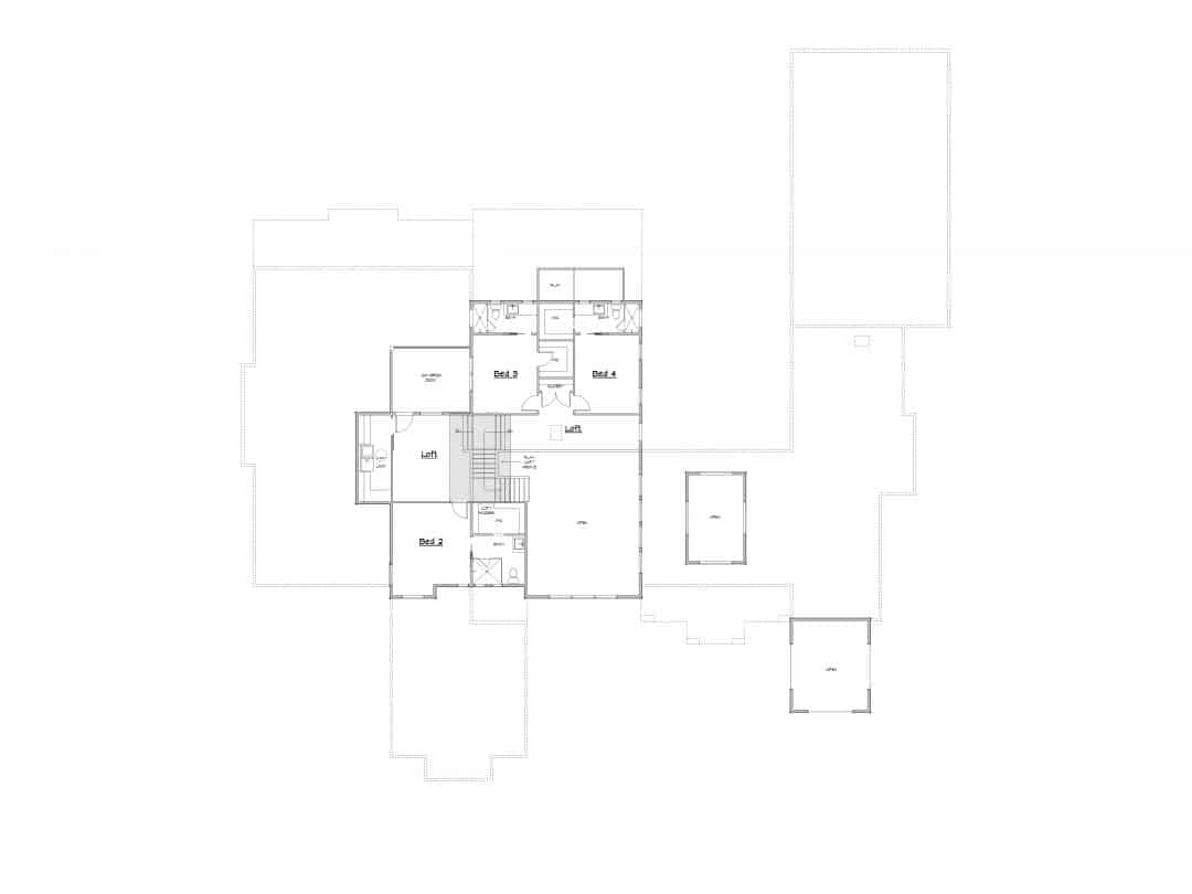 Canyon Pointe Upper Floor House Plan