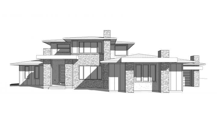 Cedar Pass House Plan 3D Rendering