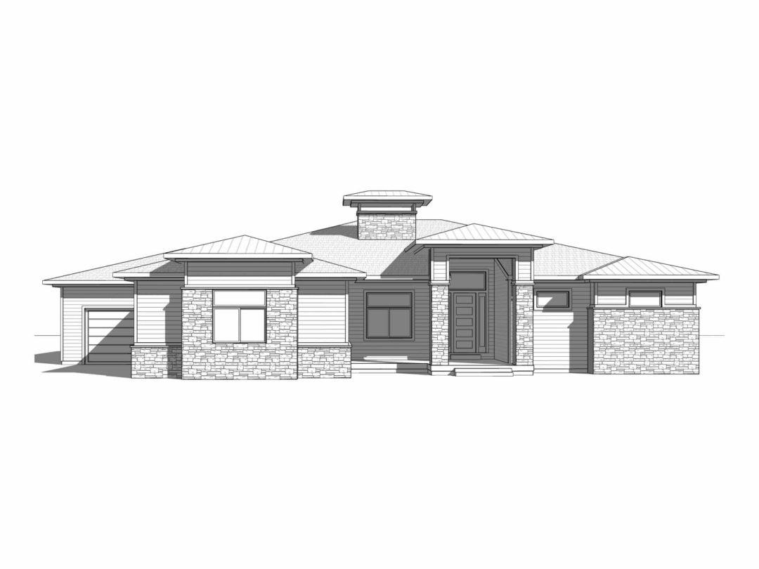 Ballard Prairie House Elevation