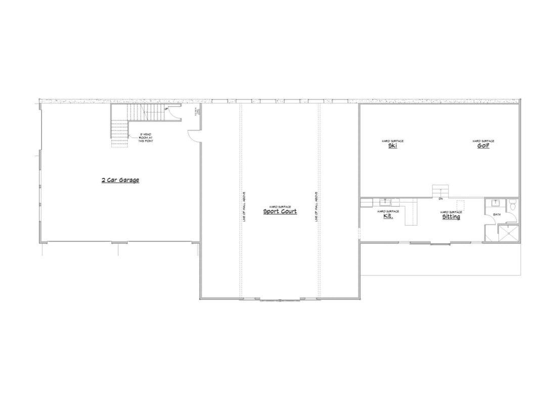 Sports Barn Garage Plan