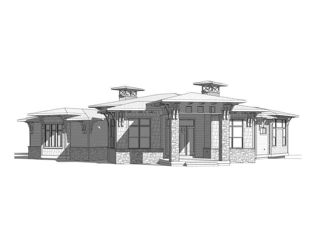 Deer Crest House Plan Elevation