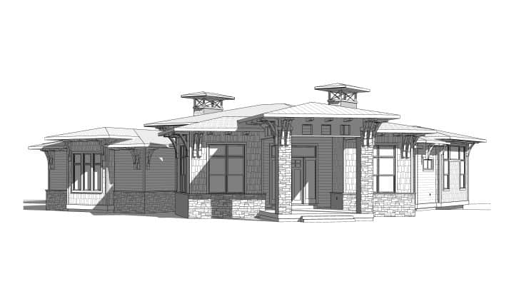 Deer Crest House Plan Elevation