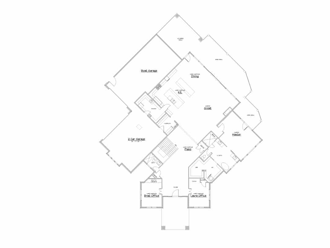 Deer Crest Main Level House Plan